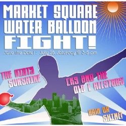 Market Square Water Balloon FIGHT!