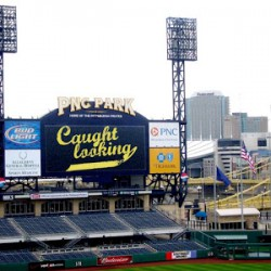 Video Artworks by School of Art Students Shown on Jumbotron at PNC Park, April 15