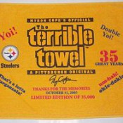 G-20 + Terrible Towel and you could win a Sally Wiggin T-shirt