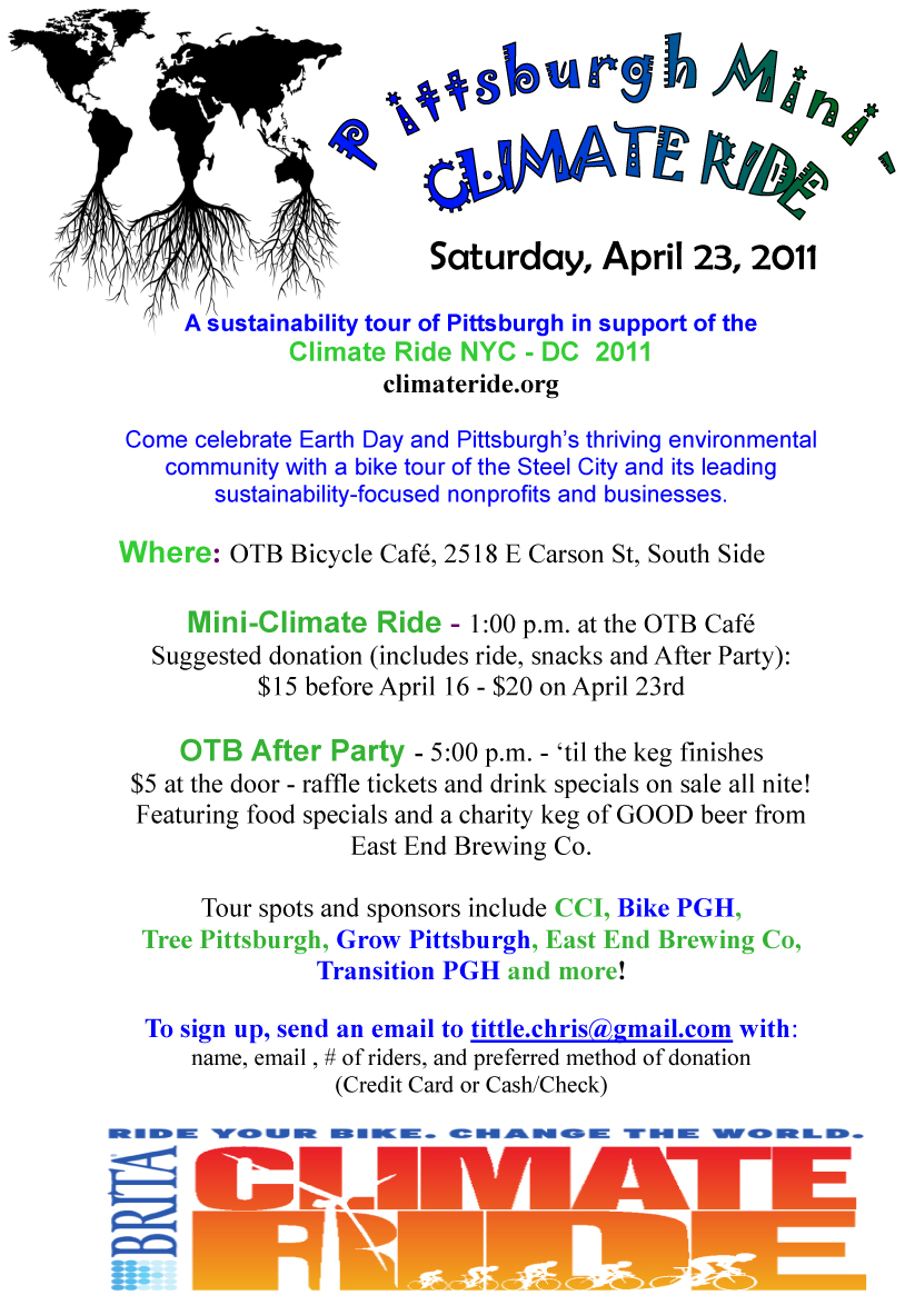 Pittsburgh Mini Climate Ride – April 23