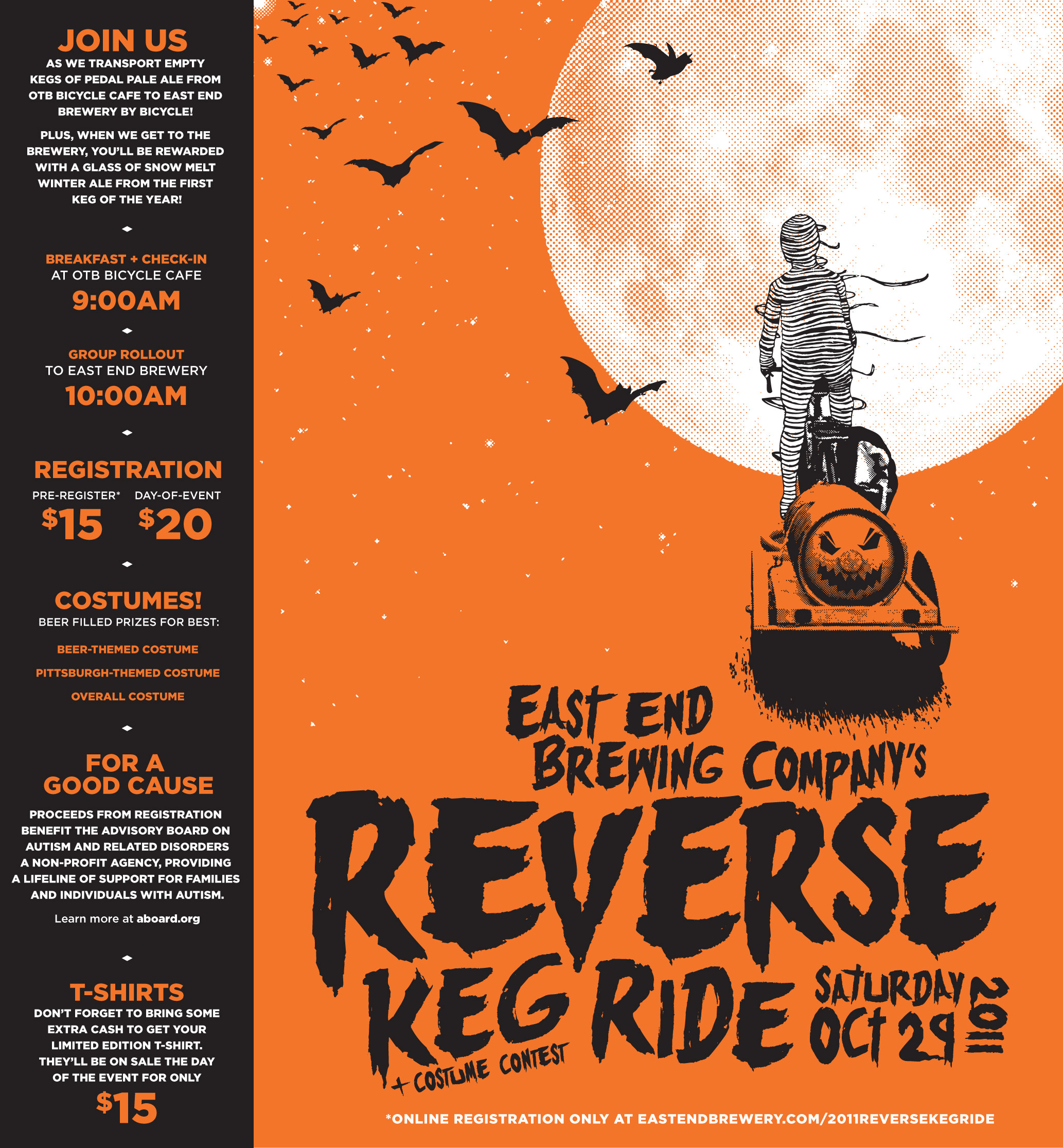 Reverse Keg Ride 2011 Includes Costume Contest for Best PGH Costume!