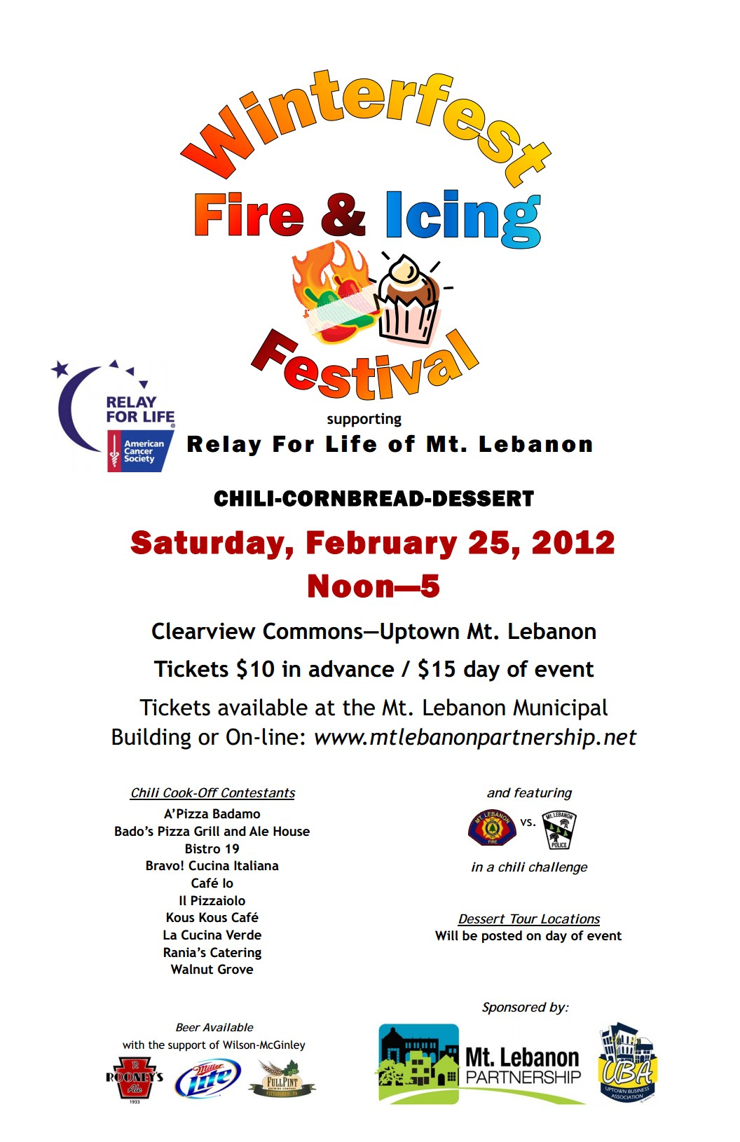 Chili Cook-Off @ Mt. Lebanon Winterfest