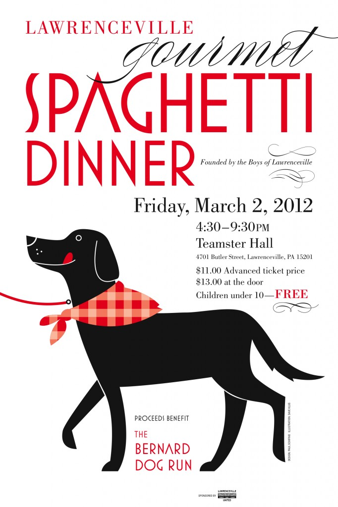 Eat Spaghetti and Support the Lawrenceville Dog Park &#8211; Friday March 2