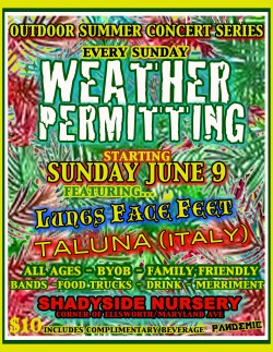 Weather Permitting Concert Series June 9th Poster
