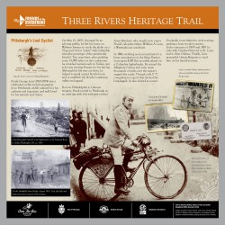This sign can be found on the Three Rivers Heritage Trail