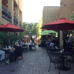 Outdoor patio is available for dining.