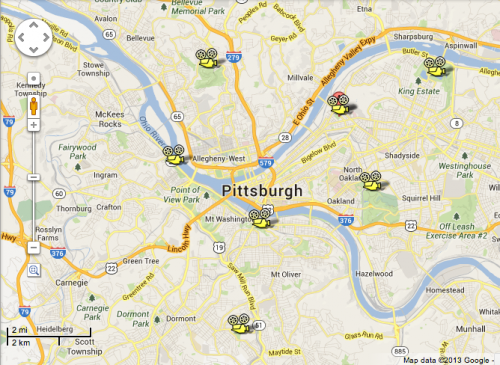 Interactive map of Pittsburgh Cinema in the Park