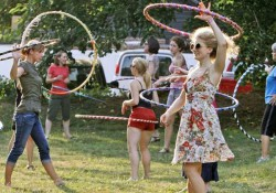 Hooping class at the Union Project.
