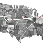 The route of the inaugural Millennial Trains Project trip