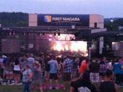 The view from the lawn at First Niagara Pavilion for Zac Brown Band