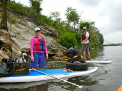 Ian and I took some paddleboards to help Paddle Without Pollution with a river clean up