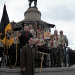 Mayor Ravenstahl with Troop 73 and Andy Masich, who adopted one of the first Redd Up Zones in Lawrenceville. Photo from the servePGH website.