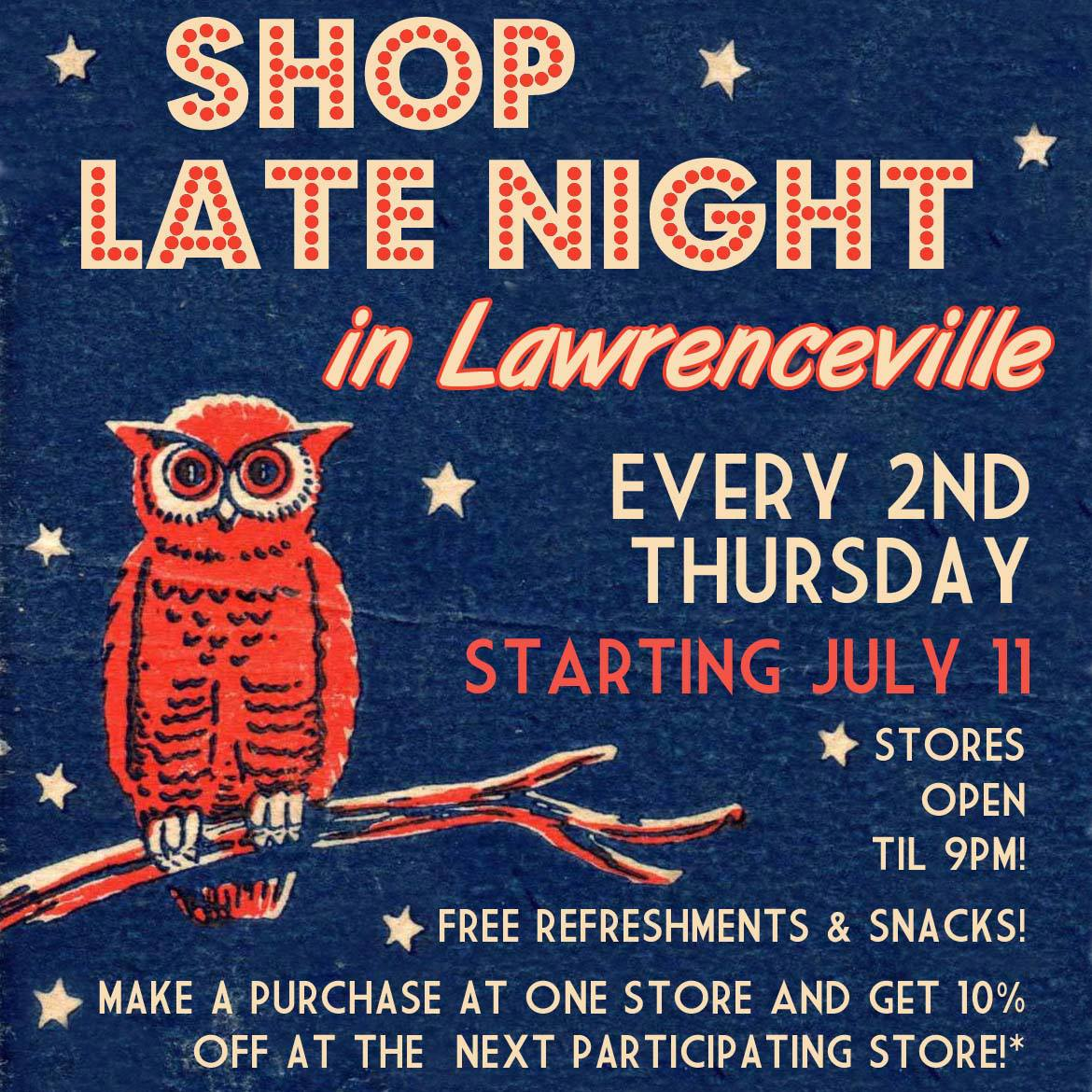 Shop Late Night in Lawrenceville is Tonight!
