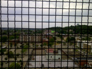 view from top of East Liberty Presbyterian Chuch