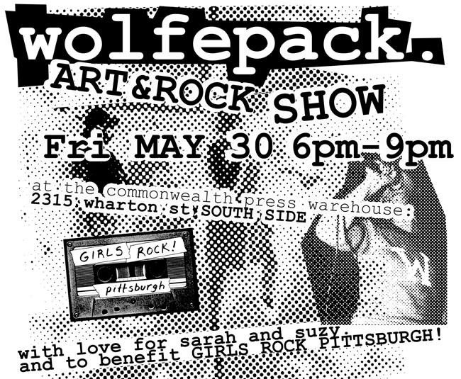 wolfepack art show girls rock pittsburgh