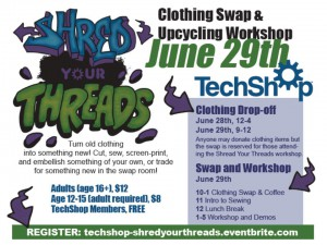 Shred Your Threads TechShop Pittsburgh