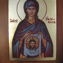 a little icon of Saint Veronica (Photo credit - Immanuel Icons Facebook page)