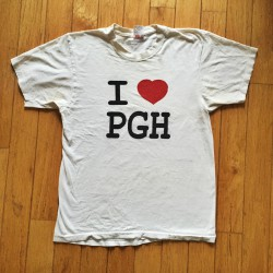 One of the first IheartPGH t-shirt