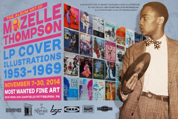 Flyer for the Mozelle Thompson retrospective held at Most Wanted Fine Art in November 2014