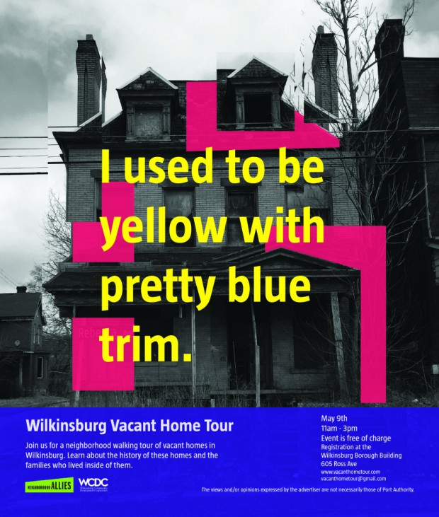 Poster for the 2015 Vacant Home Tour