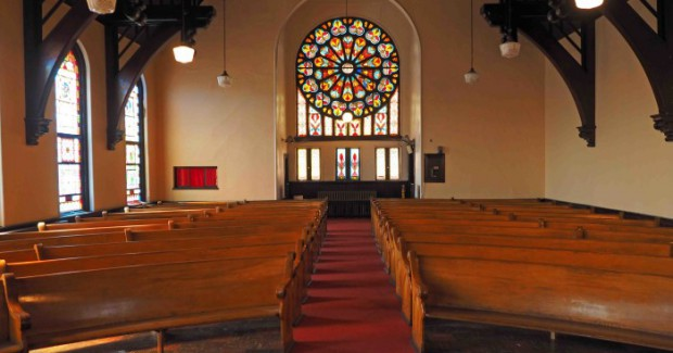 Interior view of the Neu Kirche space. (Photo credit: Neu Kirche website)
