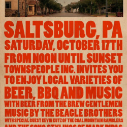 Bikes, BBQ, Beer and the Beagle Brothers in the Borough of Saltsburg