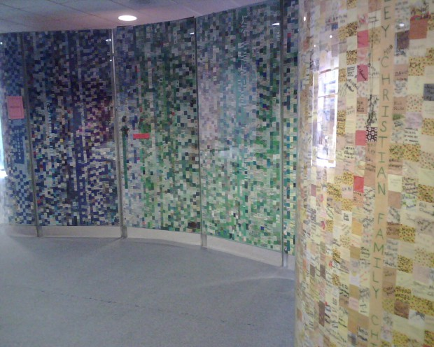 Photo of the Pittsburgh Friendship Quilt I took with my Blackberry Pearl in 2008.