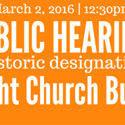 #SaveAlbright Update: Public Hearing on Wednesday 3/2