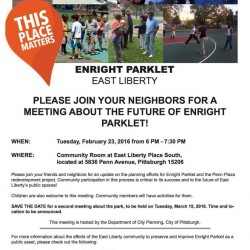 TUESDAY – City Planning Hosts Community Meeting on Enright Park