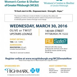 Happy Hour This Wednesday to Support the Women's Center & Shelter