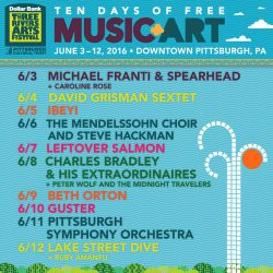 2016 Three Rivers Arts Festival Main Stage Schedule