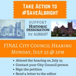 Mon 7/25 – Final Public Hearing on Historic Designation for 110 Year Old Church