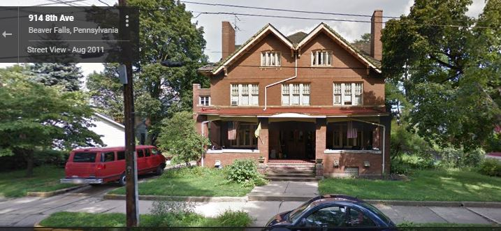 Beaver Falls Mansion Google Street View