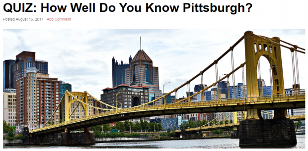 Pittsburgh quiz
