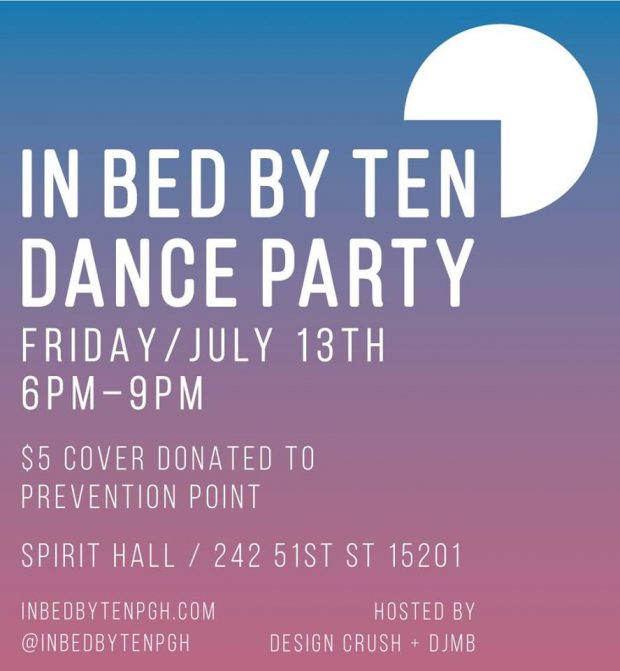 In Bed By Ten Dance Party to Benefit Prevention Point Pittsburgh