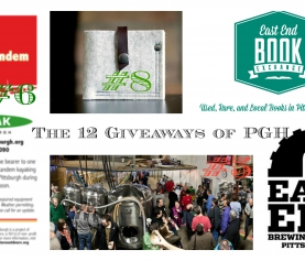 12 Giveaways of Pgh – #5-8 – Beer, Books, Bags and Kayaks