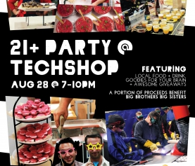 TechShop Knows How to Hack a Party – Event on August 28 to Benefit Big Brothers Big Sisters