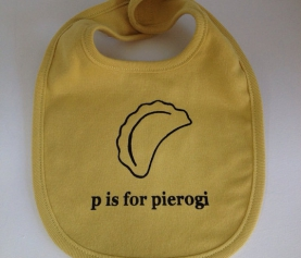 24 Gifts of Pittsburgh: P is for Pierogi Bib