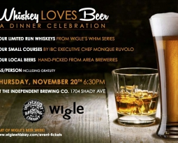 Go to this: Whiskey Loves Beer Dinner on November 20