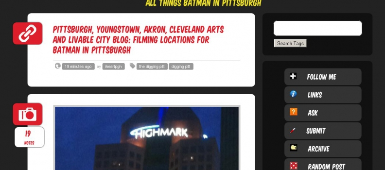 Blogging Batman In The Burgh