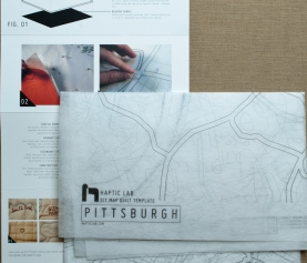 24 Gifts of Pittsburgh: Map of Pittsburgh Quilt Pattern