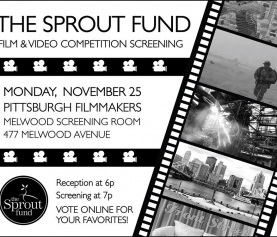 Preview Screening of Pgh Made Short Films and Videos – Mon. November 25